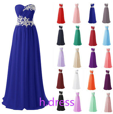 New Long Chiffon Bridesmaid Formal Ball Gown Party Evening Prom Maxi Dress