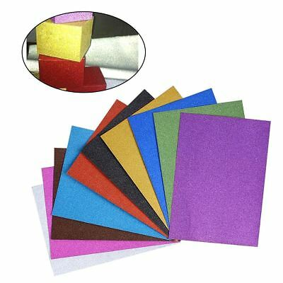 A4 Glitter Card 10 Sheets Same Colour Soft Touch DIY Craft Invitations Party JB