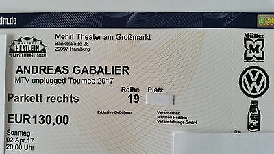 2 x Andreas Gabalier 02.04.2017 MTV unplugged - Hamburg