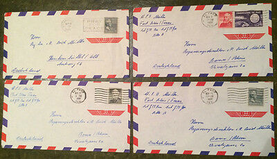 Four USA early 1960's Air Mail covers
