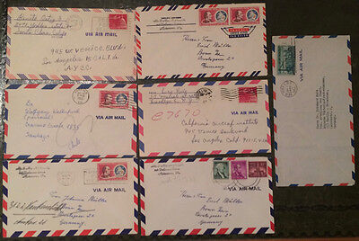 Seven USA 1960's Air Mail covers