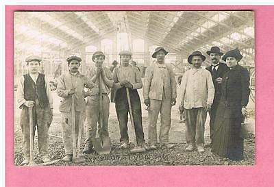 Cpa - Carte Photo -  Lyon - 69 - Halle Tony Garnier  - Exposition 1914-  Travaux