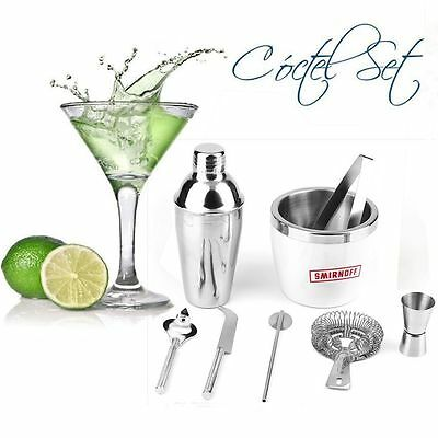 8 teiliges edelstahl cocktail shaker bar set zubeh r cocktailset mixer 0 5l eur 16 89. Black Bedroom Furniture Sets. Home Design Ideas