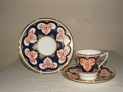 Shelley/ Wileman Dorothy Red Japan  Tea Trio Truly Stunning