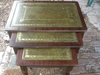 Set of 3 Antique Style Tables For Restoration £18.00 Collection Altrincham Area