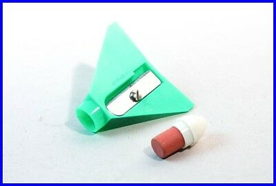 Bleistift Anspitzer Flugzeug /penny toy airplane green pencil eraser & sharpener