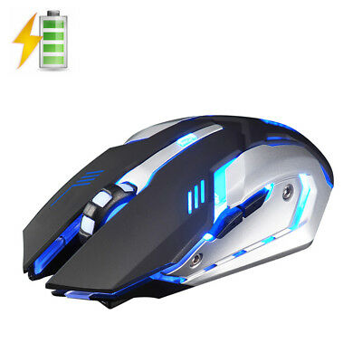 New 2.4GHz Wireless X7 Rechargeable Silent USB Optical Ergonomic Gaming Mouse