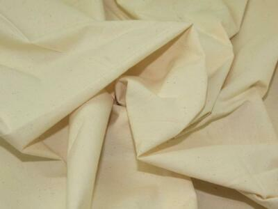 100% Cotton Fabric Sheeting CURTAIN CRAFT ART -WHITE-(160 GSM),150 CM WIDE