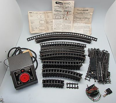 Vintage TRI-ANG Mixed Lot of 52 Railway Track Pieces With Controller & Booklets