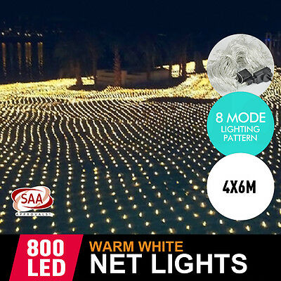 800LED Net Lights Flash String Light Wedding Xmas Party Garden Indoor Outdoor AU