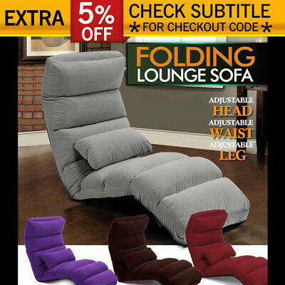 Lounge Sofa Bed Floor Recliner Folding Chaise Chair Adjustable Foldable AU Home