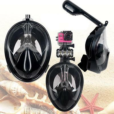 Full Face Swimming Mask Surface Diving Snorkel Scuba Anti-Fog Goggles for GoPro