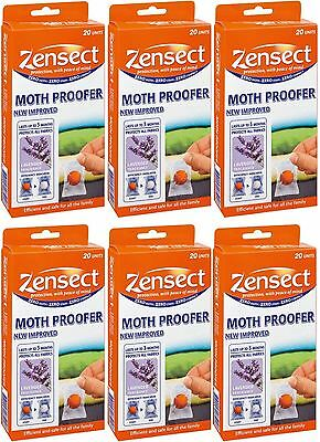6 x Zensect Anti Moth Proof Proofing Proofer Killer Balls Lavender Fragrance