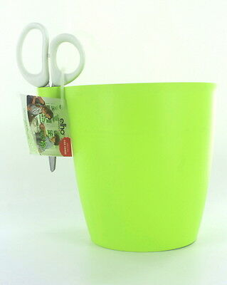 elho Set of 2 Herbs pot Size S in green with Herb scissors : NEW