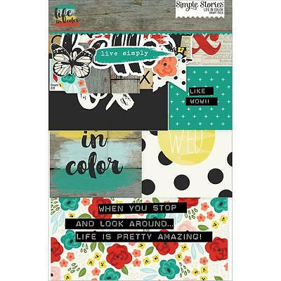 Simple Stories LIFE IN COLOR Sn@p Pack - Pocket Page Scrapbooking