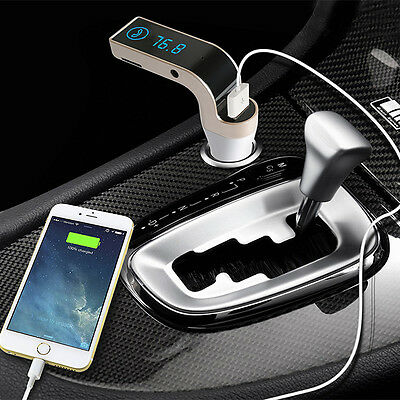 Wireless Bluetooth FM Transmitter MP3 Player SD USB Mobile Phone Car Charger Kit