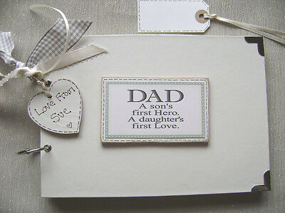 PERSONALISED A5 SIZE...DAD.....SCRAPBOOK/MEMORY BOOK/photo album