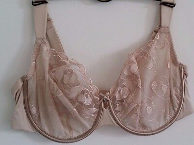 New Marks And Spencer Embroidered Full Cup Bra In Almond 30Dd