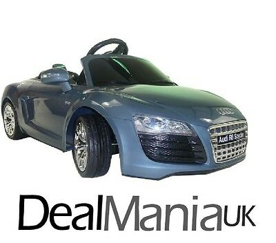 New Audi R8 Spyder 6V Kids Electric Ride On Sports Car Blue With Accelerator 3+
