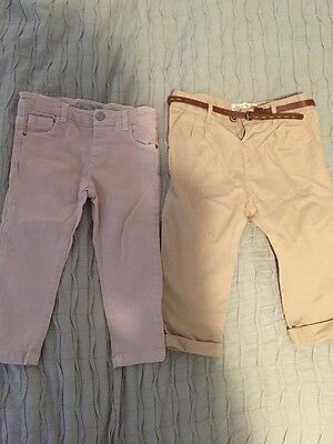ZARA Girl Skinny Jeans & Chinos Trouser Bundle Age 18-24 Months