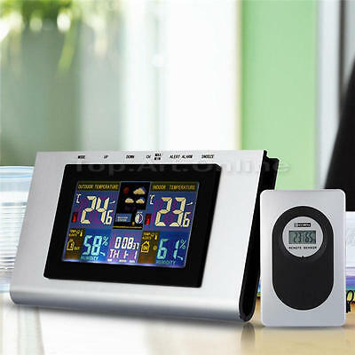 Wireless Color Weather Station w/Forecast/Temperature/Humidity, Clock & Calendar
