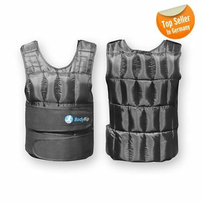 BodyRip Deluxe Weighted Vest Neoprene Lining Extra Durability Soft Padding