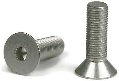 "Flat Head Socket Cap Screw 18-8 Stainless Steel 10-32 x 1"" Qty 100"