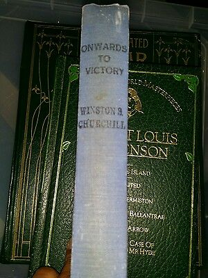 WINSTON S CHURCHILL Onwards to Victory 1944 1st Ed HB DJ WW2 FIRST WWII Speeches