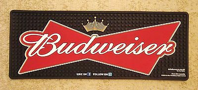 New Budweiser Lager Beer Thick Rubber Bar Runner Drip Mat Drink Pub Home Bar