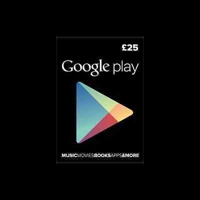 Google Play £25 British(UK) Gift Card