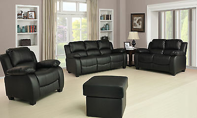 Leather Sofas 3+2+1 Seaters Suites in Stunning Valerie Range FREE DELIVERY 7Days
