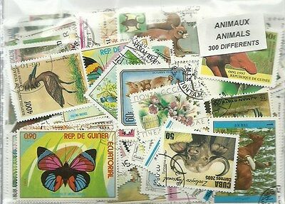 "Lot timbres thematique "" Animaux """