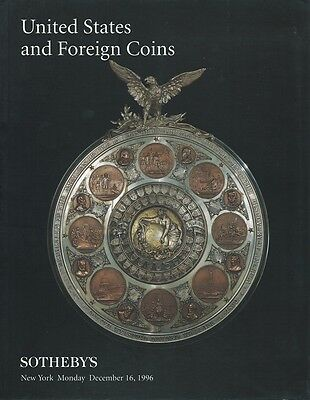 SOTHEBY'S United States and Foreign Coins Auction Catalog NYC. December 16, 1996