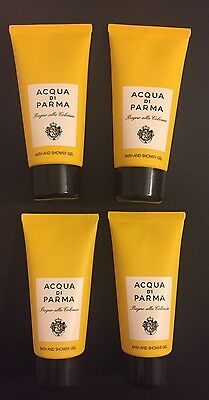 ACQUA DI PARMA COLONIA SHOWER GEL ONLY - 4 PIECE GIFT SET - LARGE 75ml TUBES