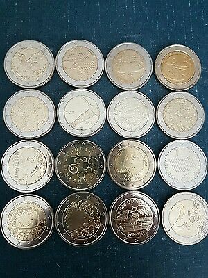 finland 2 euro 15 coins all different commemorative 2005 to 2016 new BUNC f.roll
