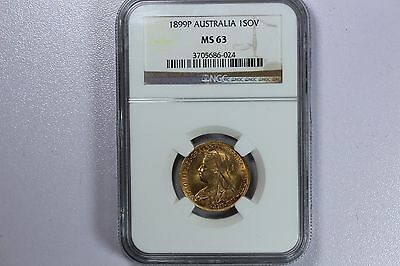1899 P Gold Sovereign Ms63 Ngc !!!!