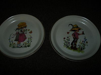 collectable plates vintage - Boy Girl Barratts of Staffordshire