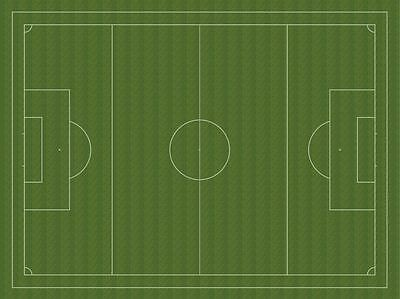 Subbuteo pitch rubber backed 1600x1200mm