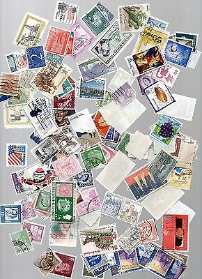 All World Stamps - 80 gms kiloware off paper