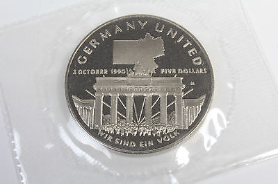 Germany United $5 commemorative Coin Marshall Islands 1990 BUNC