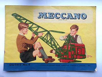 Meccano Instructions For Outfit No 4.