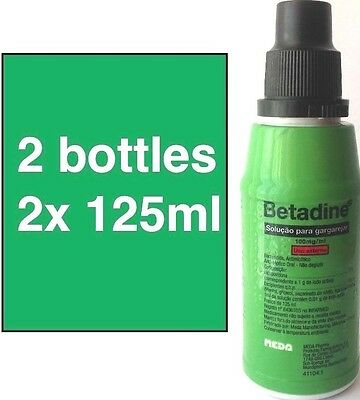 BETADINE Desinfectant Mouthwash Gargle Solution UP to 2x 125ml FREE SHIPPING