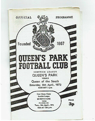 Queens Park v Queen of the South 8 April 1972