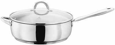 Judge Classic Stainless Steel Induction Saute Pan Glass Lid 28cm