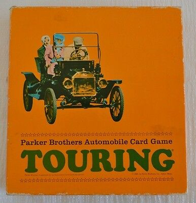 Vintage 1965 TOURING Card Game PARKER BROTHERS Automobile Complete