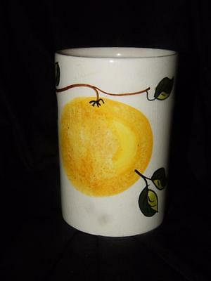 VINTAGE TONI RAYMOND UTENSIL JAR ~ Yellow Passion Fruit