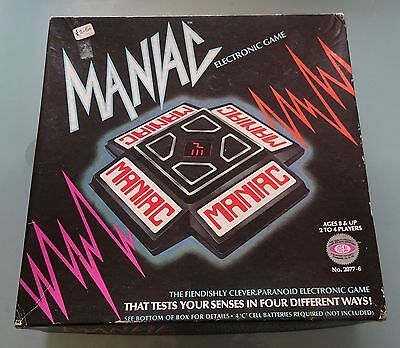 Maniac Electronic Game - Vintage 1979 by Ideal Toy Corps - Boxed w/ Instructions