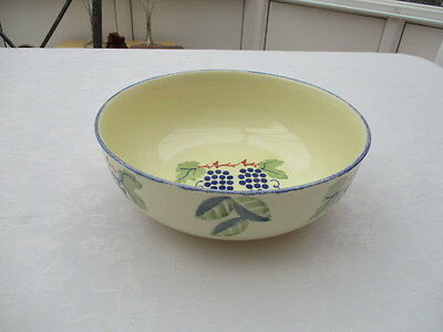 "poole pottery dorset fruits serving bowl 8.25"" very good used condition"