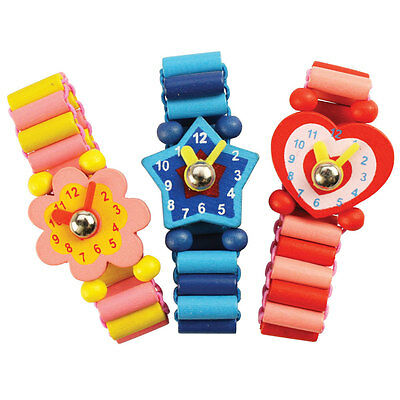 Bigjigs Toys Snazzy Wooden Watches (Pack of 3)