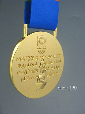 Athens 2004 Olympic Gold Medals/Ribbons **Free Shipping**